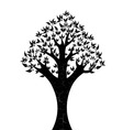 abstract tree on white background vector image vector image