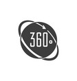 angle 360 degrees icon vector image