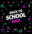 back to school sale template design vector image vector image