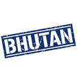 bhutan blue square stamp vector image vector image