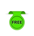 bookmark with free message vector image vector image