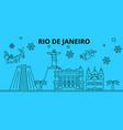 brazil rio de janeiro winter holidays skyline vector image
