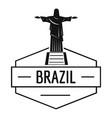 brazil statue logo simple black style vector image vector image