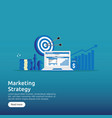 business marketing strategy spreadsheet on screen vector image vector image