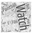 BWPB choosing paintball videos Word Cloud Concept vector image vector image