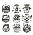 camping vintage logo set monochrome vector image vector image