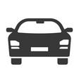 car icon black automobile and transportation vector image vector image