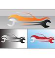 Car service logo design vector image vector image
