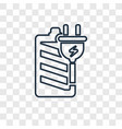 charging concept linear icon isolated on vector image