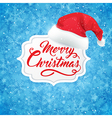 Christmas banner and hat of Santa Claus vector image vector image