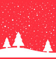 christmas poster winter background vector image vector image