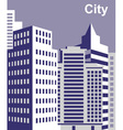 City tall buildings vector image vector image