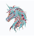 colorful unicorn vector image vector image
