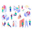 creative professions isometric people set vector image vector image