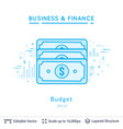 dollars budget symbol on white vector image vector image