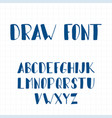 dynamic hand drawn brush pen uppercase font vector image