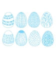 Easter eggs set - vector image vector image