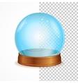 empty blue crystal ball vector image
