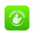 exotic fruits icon green vector image