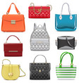 fashion female handbags vector image