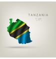 Flag of TANZANIA as a country with a shadow vector image vector image