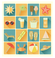 flat icons summer beach vector image vector image