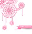 Flowers doodle vector image