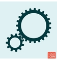 Gears icon isolated vector image vector image