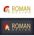 Greek or Roman antique helmet logo vector image vector image