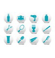 hairdressing salon buttons vector image vector image