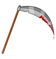 Halloween Scythe with Blood vector image vector image