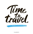 Hand drawn typography lettering phrase Time to vector image