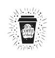 its coffee oclock vector image vector image