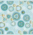 luxury floral style snowflakes seamless pattern vector image