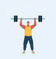 man doing exercises vector image