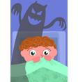 nightmare in bedroom vector image vector image