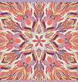 ornamental lace floral mandala square pattern vector image vector image