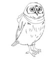 owl graphic black white vector image vector image