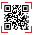 Qr code sample vector image vector image
