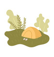 rest at holidays in peaceful nature place in vector image vector image