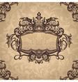 retro royal vintage frame vector image vector image