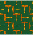 retro wood corkscrew icon seamless pattern for vector image vector image