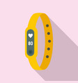 running bracelet icon flat style vector image vector image