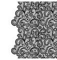 seamless lace border black lacy vintage elegant vector image vector image