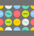 seamless pattern of colorful bottle caps vector image vector image
