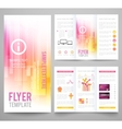 Set of abstract bright background for flyer vector image vector image