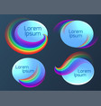 set of oval banners with a rainbow vector image vector image