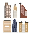 set of skyscrapers for infographics vector image vector image