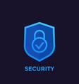 shield icon security concept logo vector image vector image