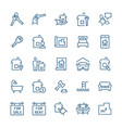 simple icon set real estate items in thin line vector image vector image
